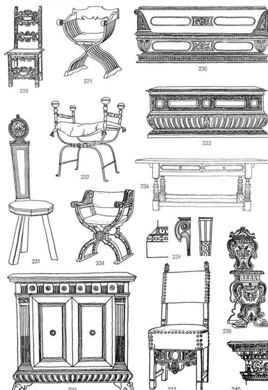 Мебель ренессанса 2