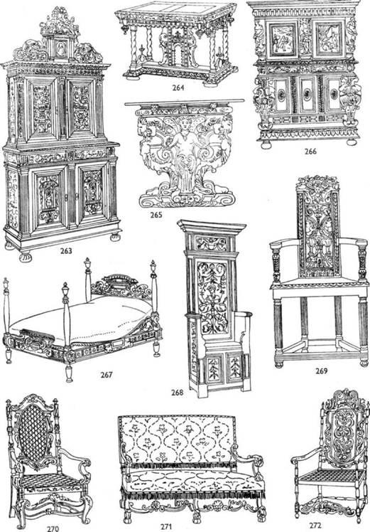 Мебель ренессанса