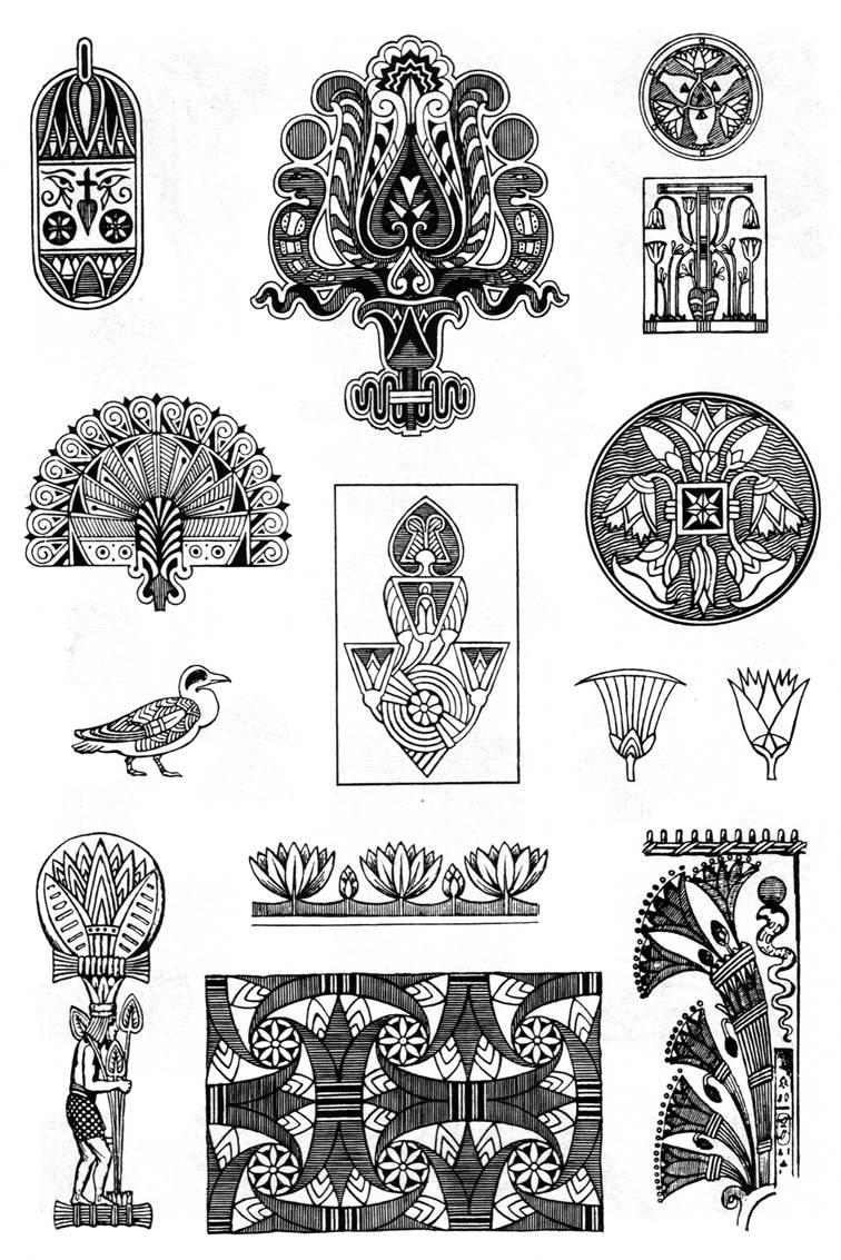 орнаменты древнего египта